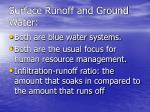 surface runoff and ground water