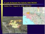 a look at recent fire activity with modis2