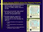forest service modis active fire mapping program