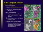 mtbs geospatial products