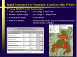 rapid assessment of vegetation condition after wildfire