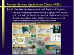 remote sensing applications center rsac1