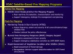 rsac satellite based fire mapping programs