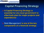 capital financing strategy