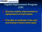 capital improvement program cip2