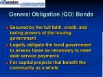 general obligation go bonds