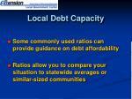 local debt capacity