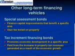 other long term financing vehicles