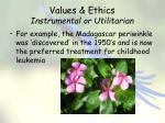 values ethics instrumental or utilitarian3