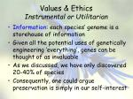 values ethics instrumental or utilitarian5