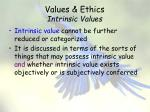 values ethics intrinsic values