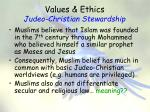 values ethics judeo christian stewardship3