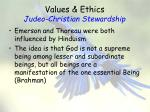 values ethics judeo christian stewardship5