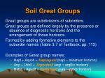 soil great groups