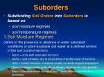 suborders