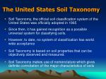 the united states soil taxonomy