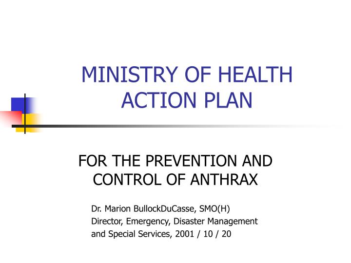 ministry of health action plan n.