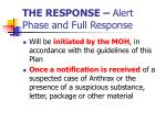 the response alert phase and full response