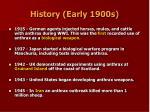 history early 1900s