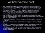 anthrax vaccine cont