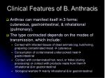 clinical features of b anthracis