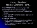 history of anthrax natural outbreaks cont2