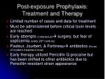 post exposure prophylaxis treatment and therapy