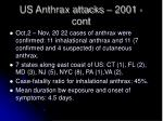 us anthrax attacks 2001 cont