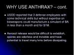 why use anthrax cont1