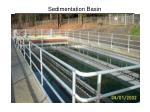sedimentation basin