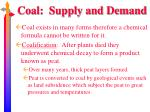 coal supply and demand