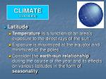 climate continued