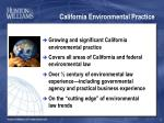 california environmental practice