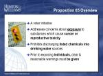proposition 65 overview