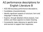 a2 performance descriptions for english literature b1