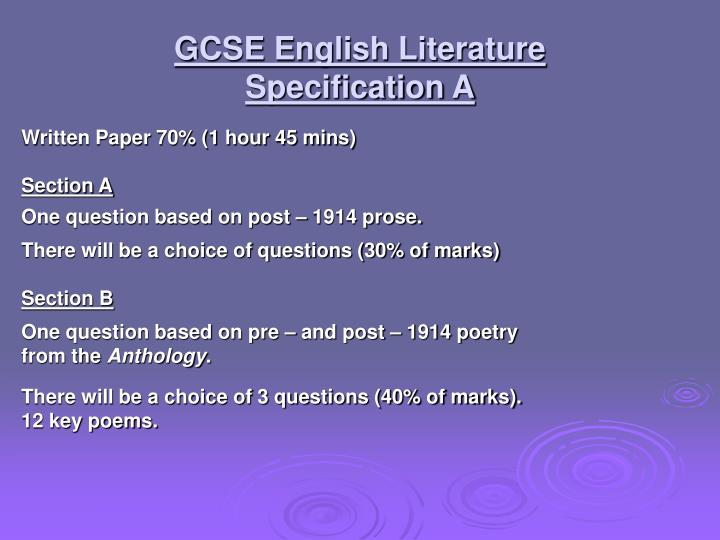 english literature coursework questions The english language and literature course is one of the broadest in the country, giving you the chance to study writing in english from its origins in anglo-saxon england to the literature of the 20th and early 21st centuries as well as british literature, you can study works written in english from other parts of the world the course also.