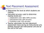 text placement assessment