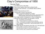 clay s compromise of 1850