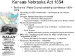 kansas nebraska act 1854