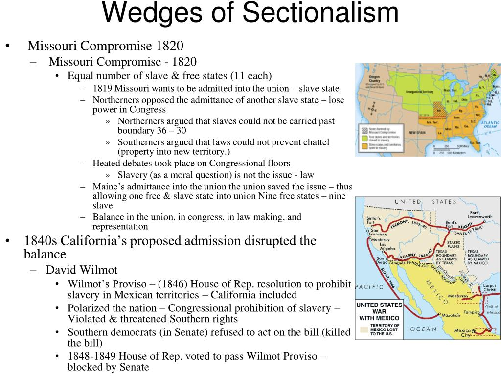 PPT - Sectional Conflict & Politics 1846 - 1857 PowerPoint ...