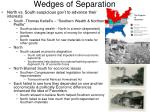 wedges of separation