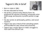 tagore s life in brief