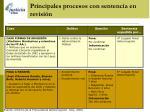 principales procesos con sentencia en revisi n