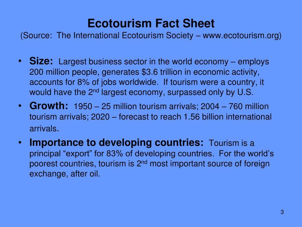 Ecotourism Fact Sheet