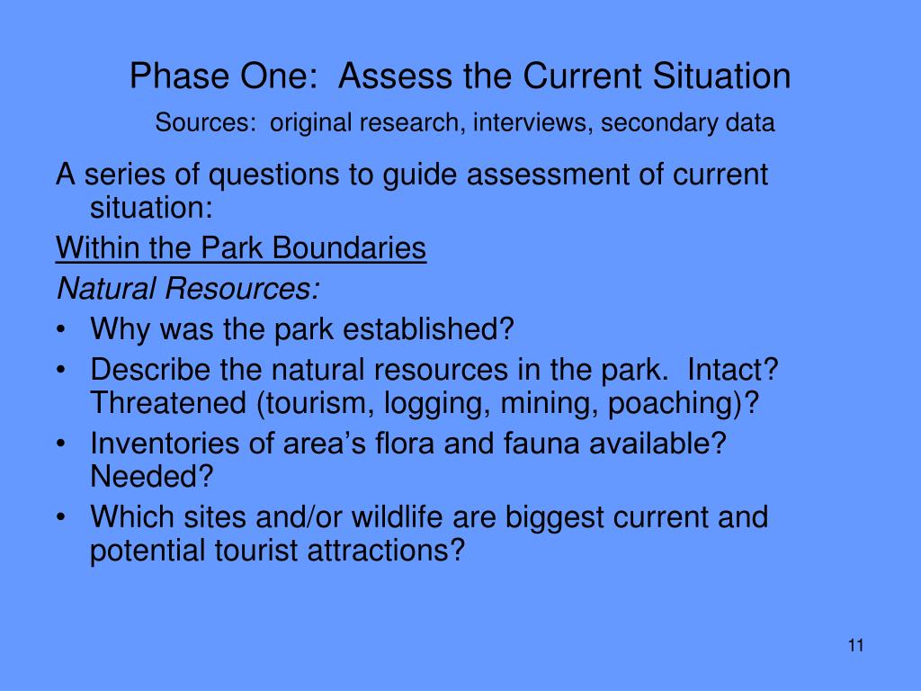 Phase One:  Assess the Current Situation