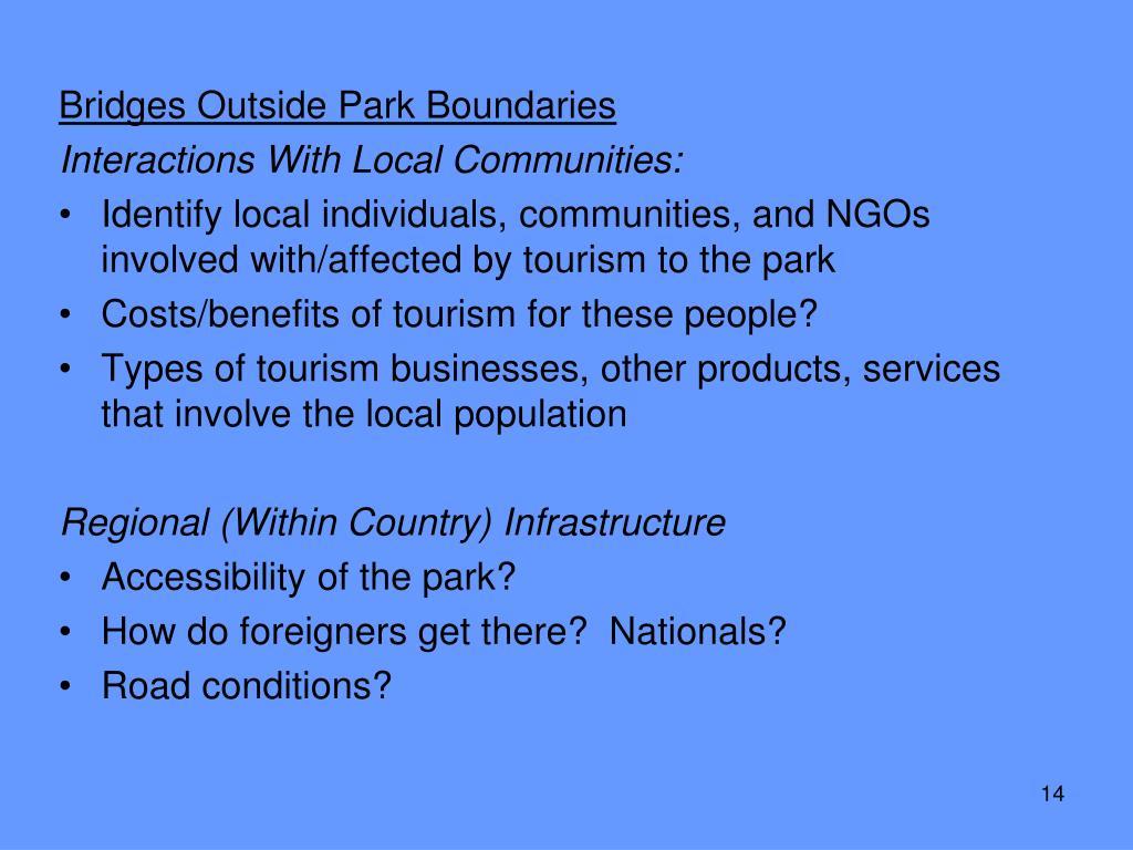 Bridges Outside Park Boundaries