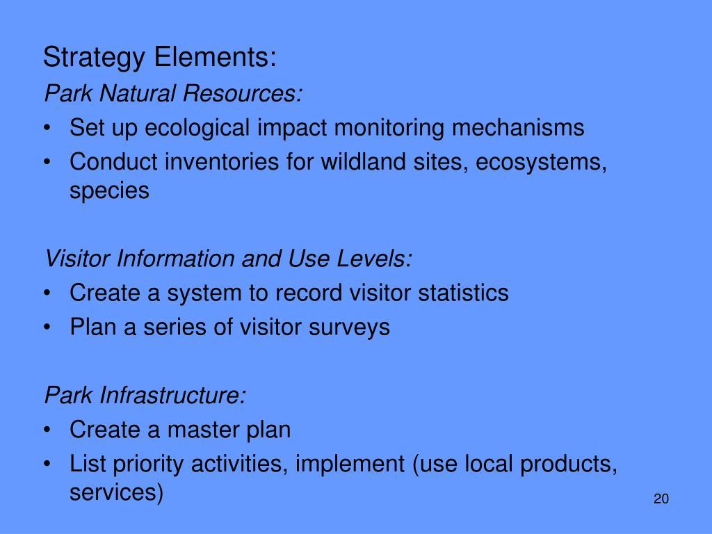 Strategy Elements: