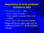 importance of local antibiotic resistance data