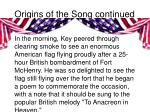 origins of the song continued