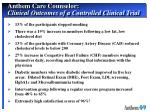 anthem care counselor clinical outcomes of a controlled clinical trial